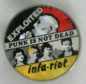 The Exploited / Infa-Riot - 'Punk is Not Dead' Prismatic Crystal Badge